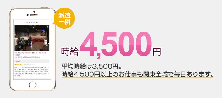 時給4000円以上のお仕事たくさん!